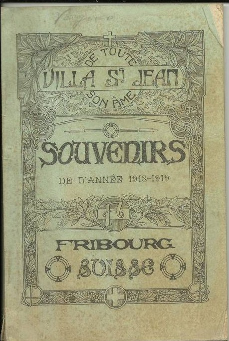Historical Photo of front cover of  Villa Saint Jean School 1919 yearbook