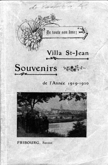 Historical Photo of front cover of  Villa Saint Jean School 1920 yearbook