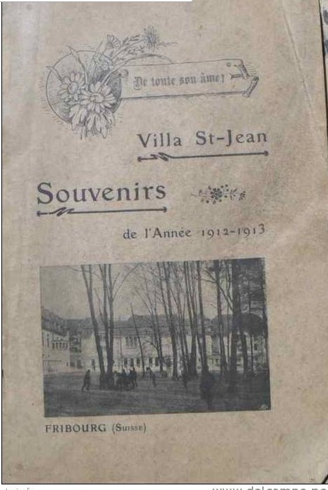 Historical Photo of front cover of  Villa Saint Jean School 1913 yearbook