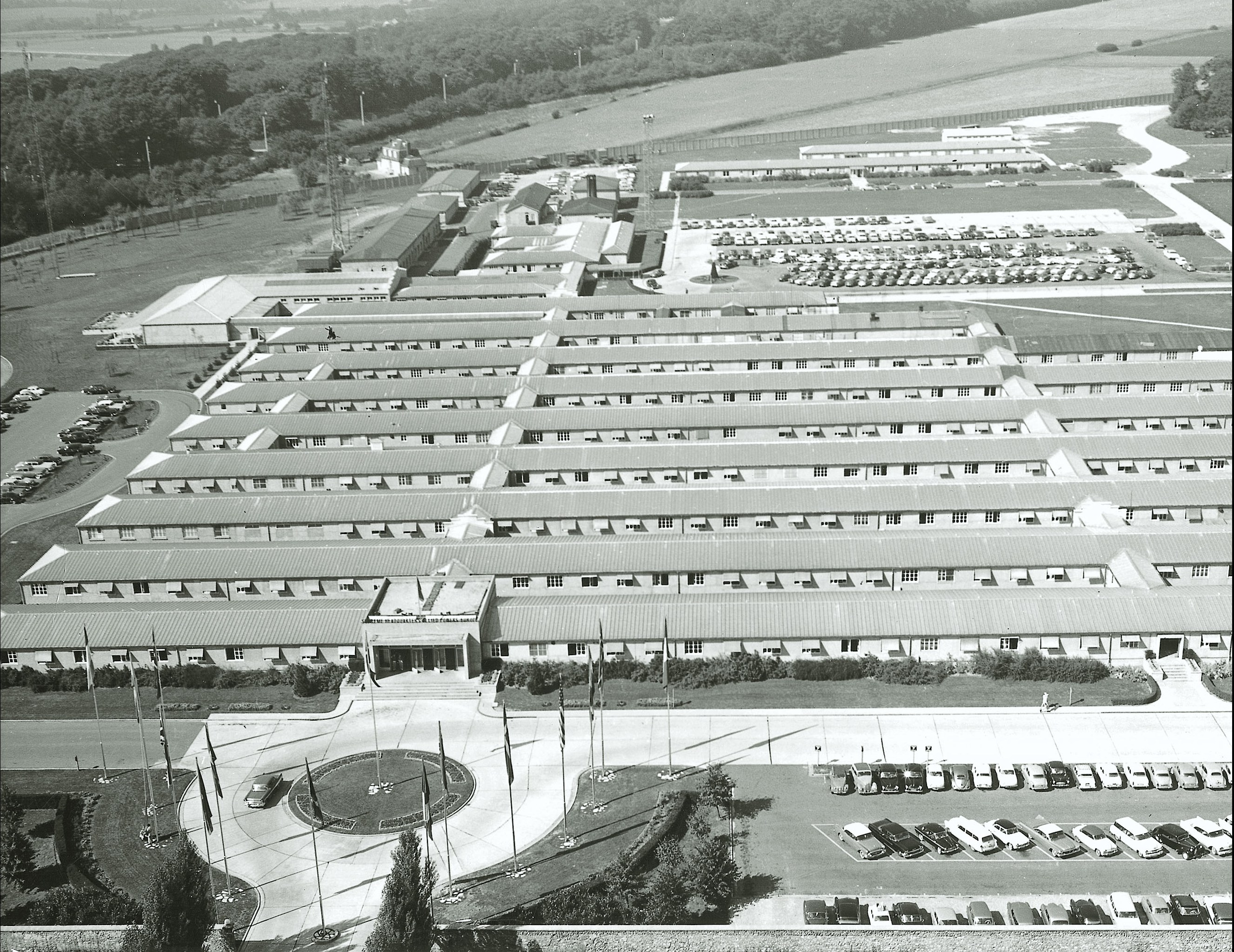 Photo:SHAPE Headquarters located in Roquencourt just outside of Paris France April 1951 to April 1967