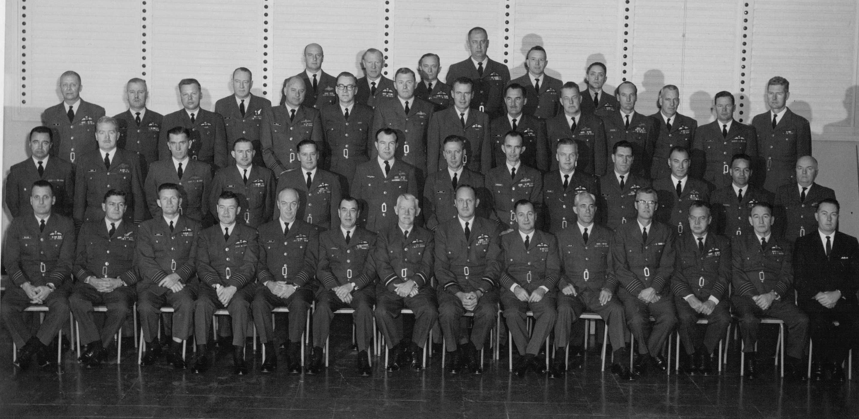 Photo: 1966 PINETREE LINE Commanding Officers TEAM PHOTO