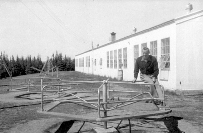 Photo: Recreation Equipment outside School at RCAF Moisie