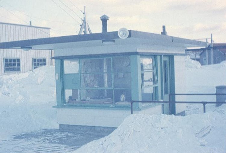 Photo: Guard Hut at Entrance to Radar Site  at RCAF Moisie In Winter