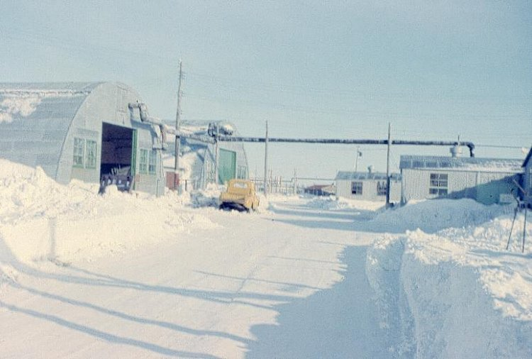 Photo: Support Buildings at RCAF Moisie In Winter