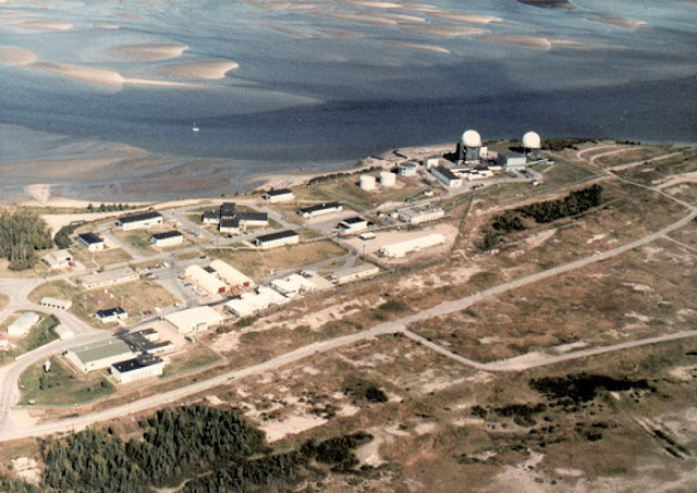 Photo: Aerial View of RCAF Moisie Station May 1982