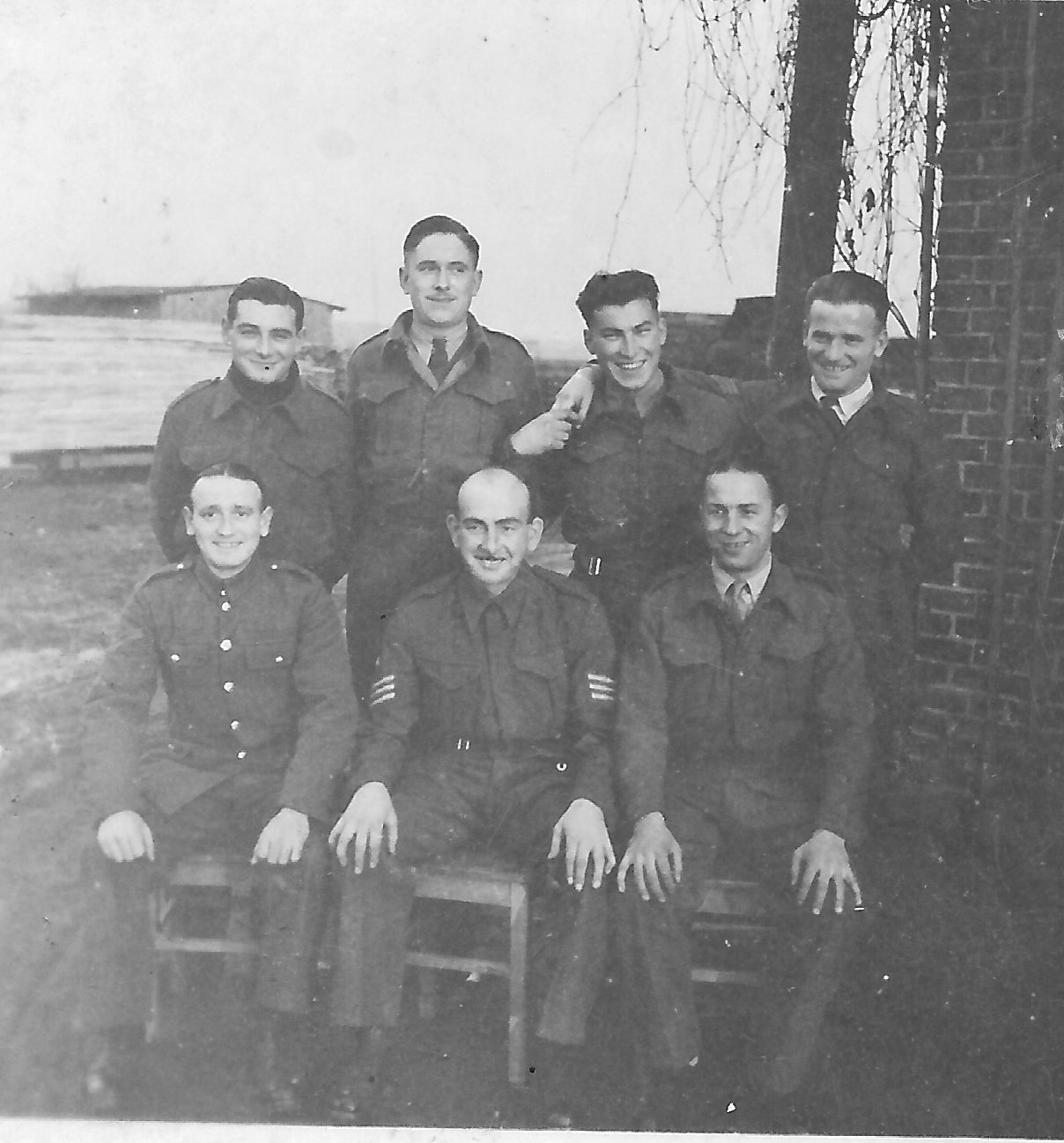 Dec 1942 Stalag VIII B Photo of Hubert Brooks, John Duncan and crew.