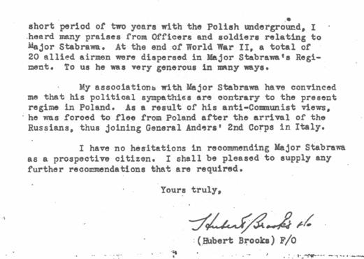Image 2 of Letter from Hubert Brooks supporting Borowy immigration to Canada