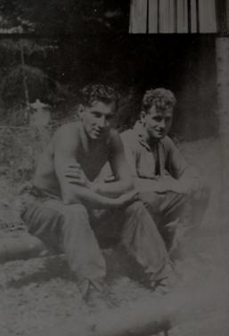 Photo Hubert Brooks and John Duncan Summer 1944