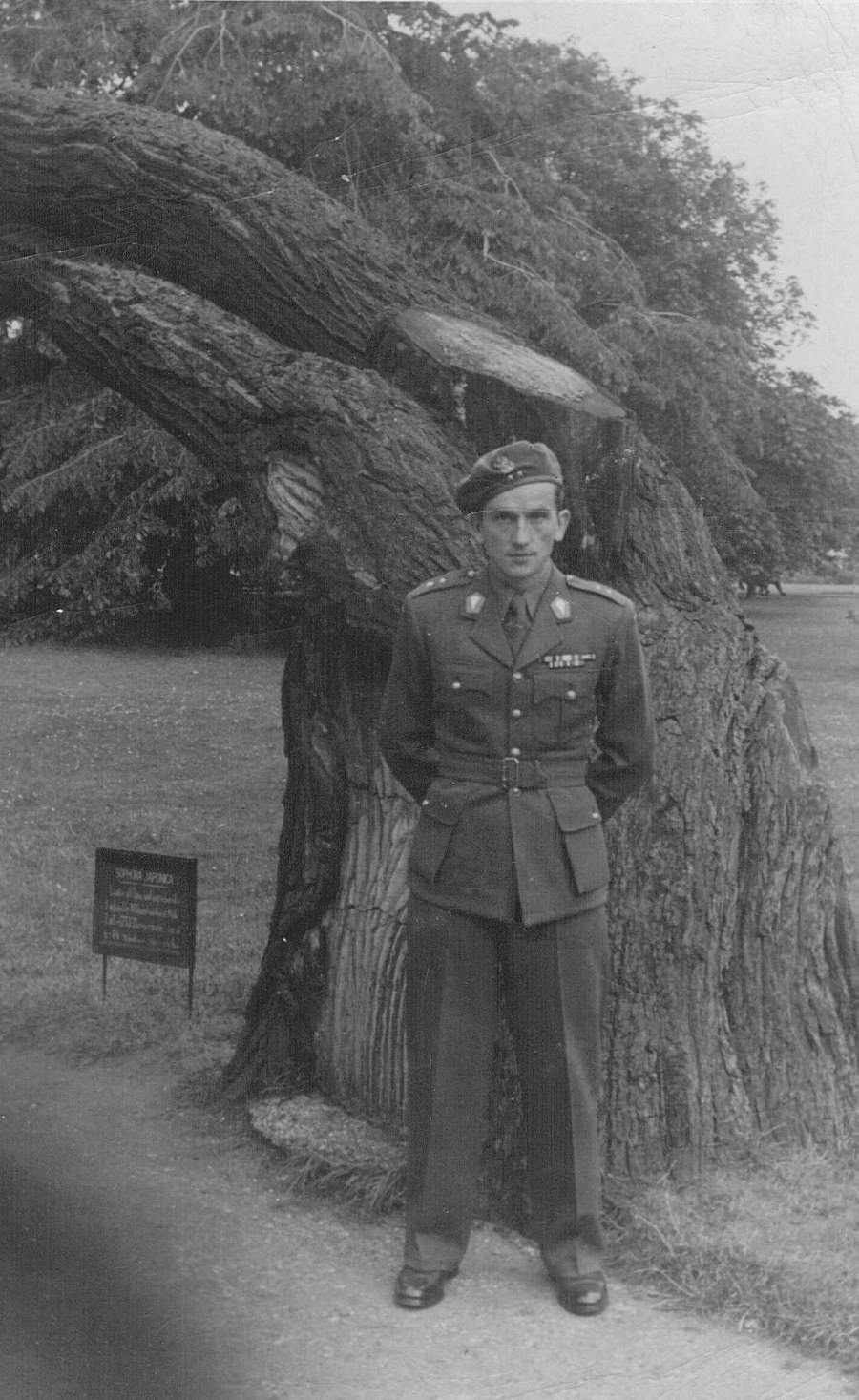Image of Lieutenant Commander Gustaw Górecki ps. Gustaw, Commander 2<sup>nd</sup> Company, I Battalion  In London After The War July 31, 1947