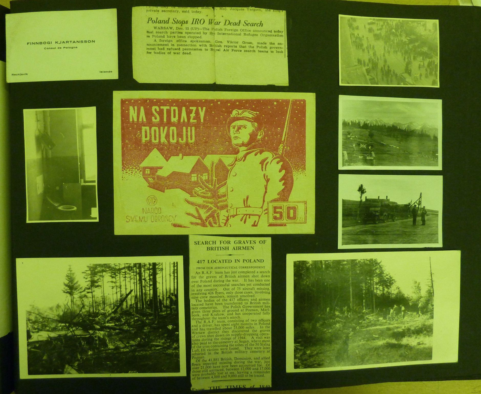 IMAGE 4: Montage of Photos from S/L Eric Rideal's  PHOTO Alblum now residing in the RAF Museum in London