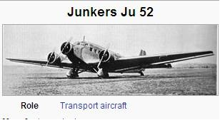 Photo of Junkers J.U. 52 aircraft