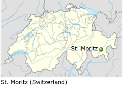 Image: Swiss map showing location of St. Moritz