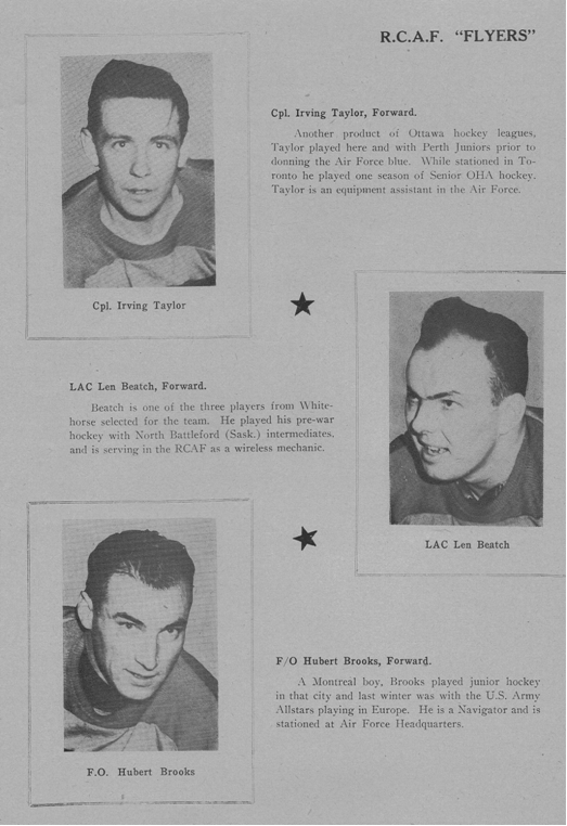 Photo: Olympic Night EXAMPLE RCAF Flyer Bio Page with Hubert Brooks