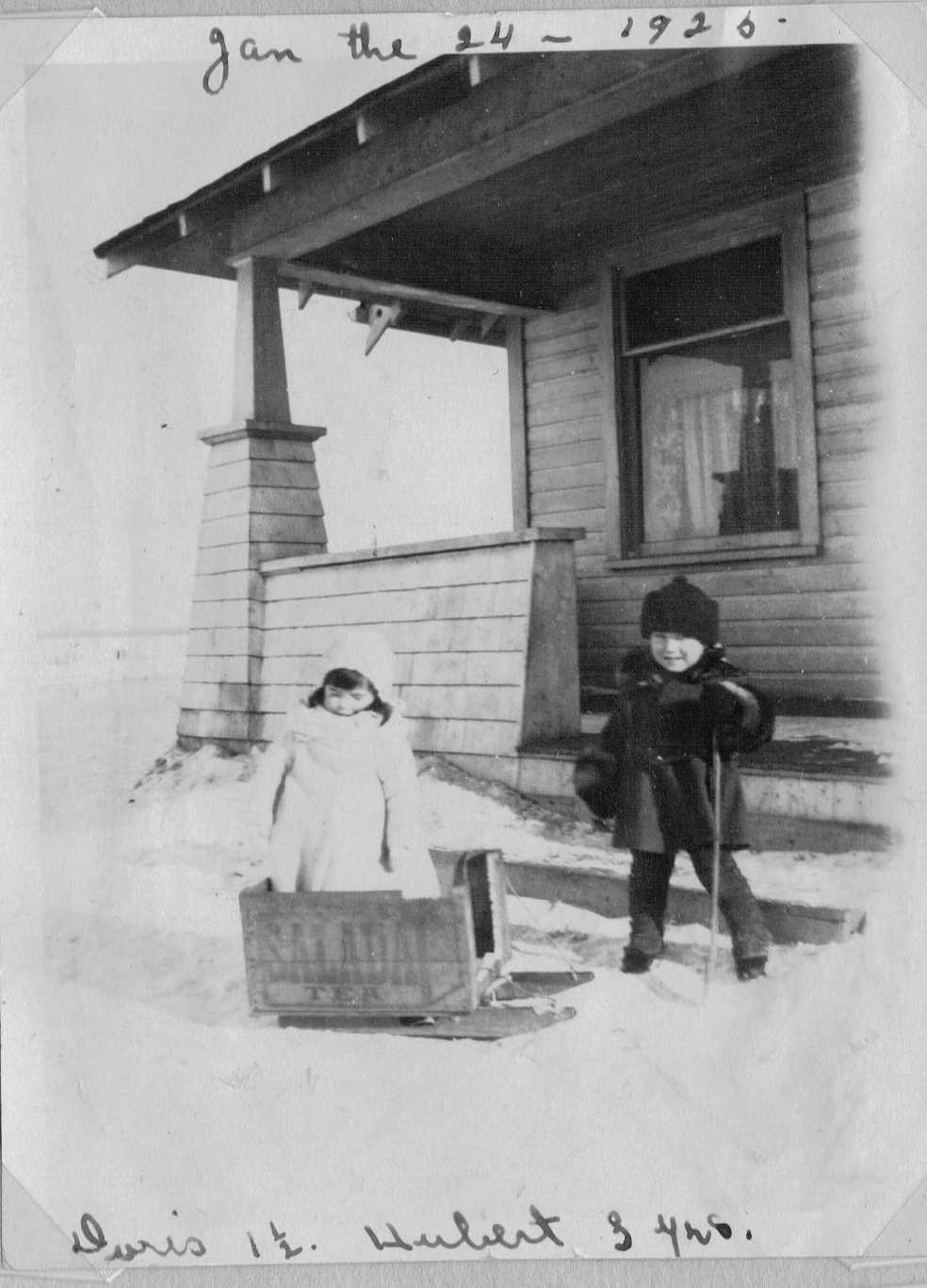 January 24,1925 Hubert 3 yrs old, Doris 1½