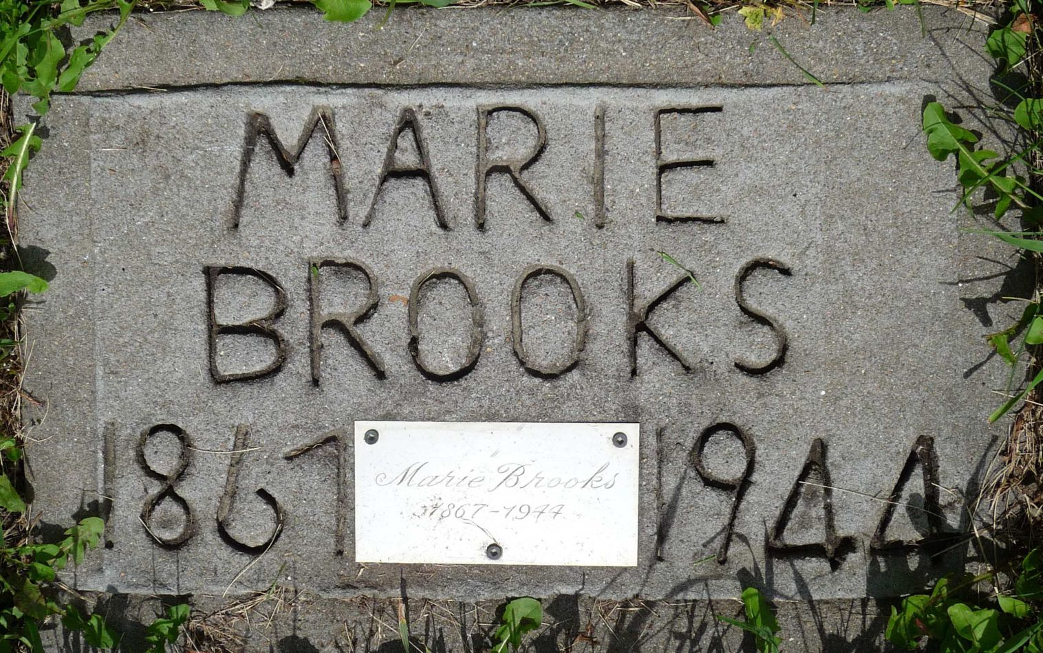 Tombstone of Marie (Grégoire) Brooks