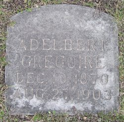 Adelbert Grégoire Tombstone Calvary Cemetery Grand Forks ND