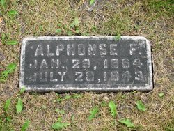Alphonse F. Grégoire Tombstone Calvary Cemetery Grand Forks ND
