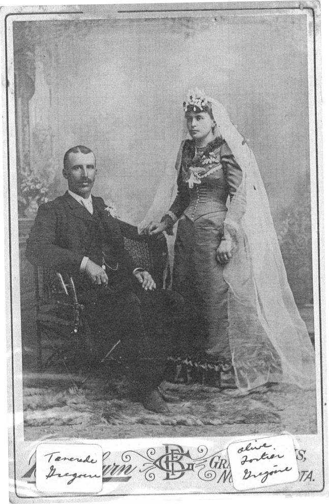 Wedding Photo of Tancrede Grégoire and Olive Fortier