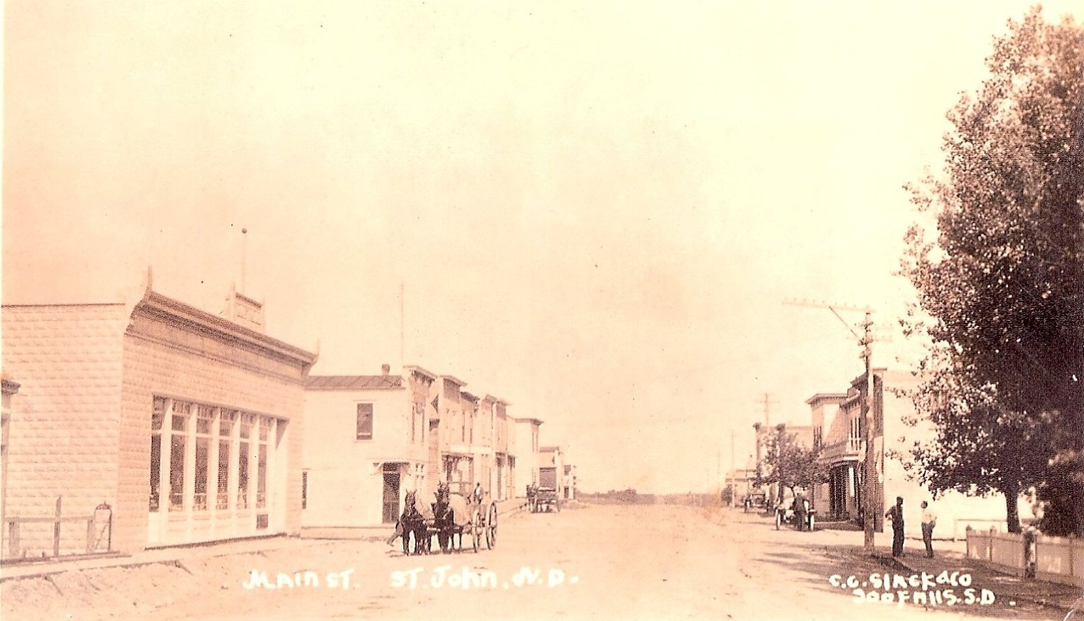Historical PHOTO: St John ND Main Street