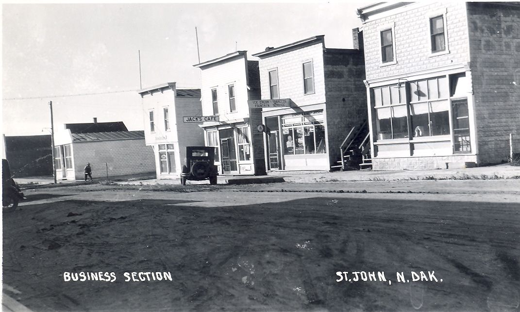 Business Section St John ND  circa 1908