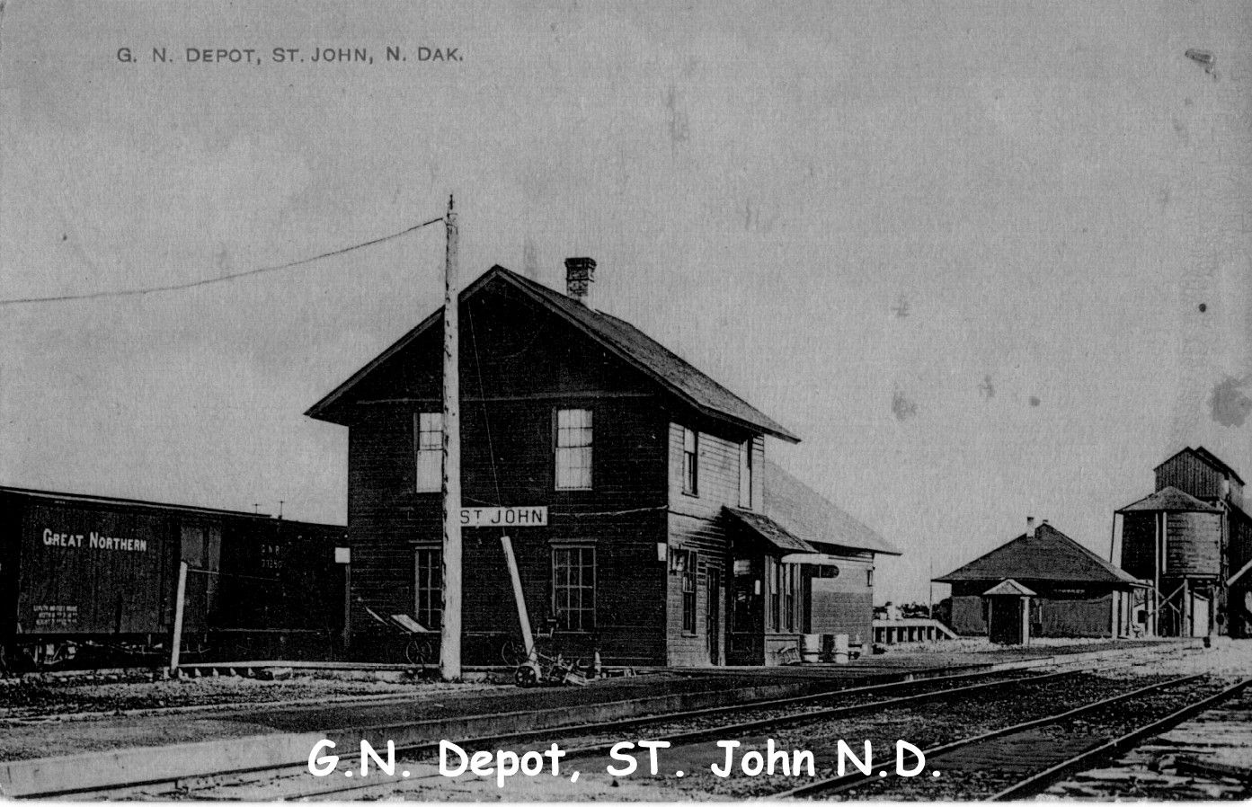 Great Northern Railway Terminal St John circa 1908